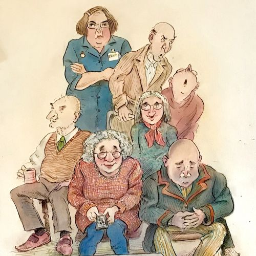 John Holder Illustrateur international de personnages classiques. Cambridge.