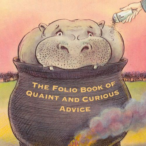 Illustration for the folio book of quaint and curious advice