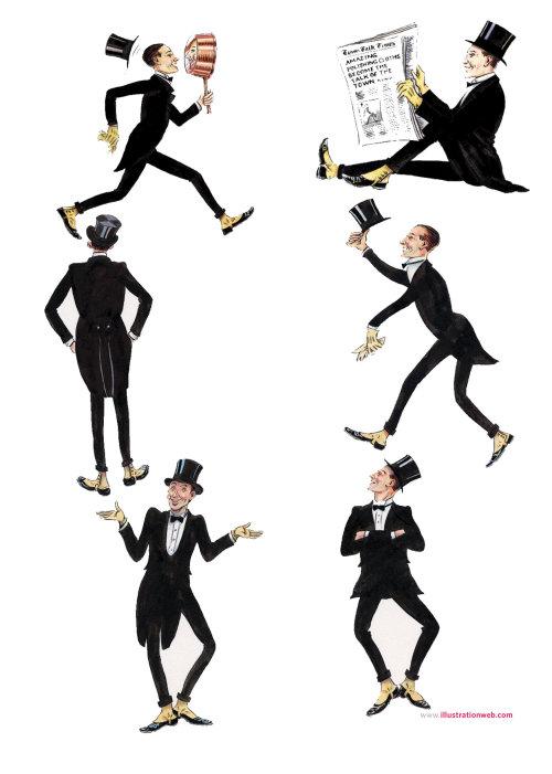 Paper art of men expressions