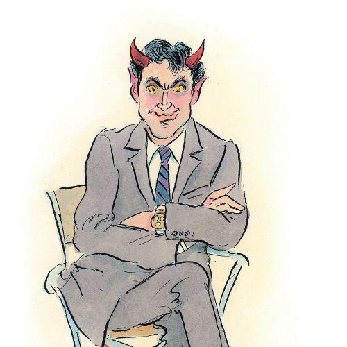 Paper art of Devil Chair