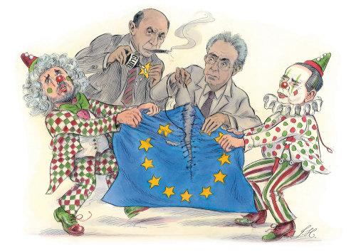 Design de personagens do Europa Palhaço
