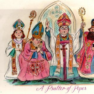 A Psalter of Popes storybook painting