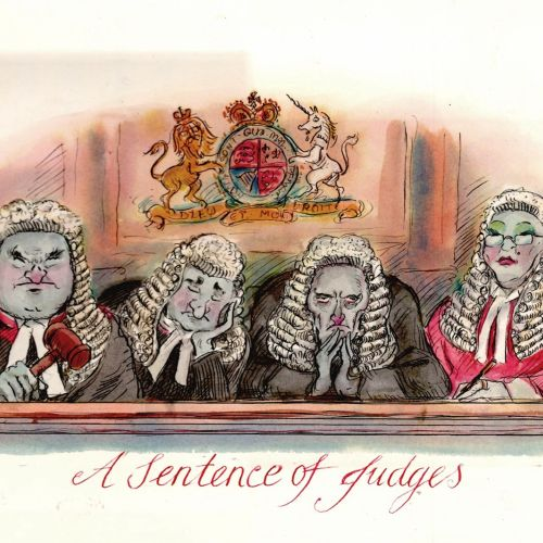 Character design of A Sentence of Judges