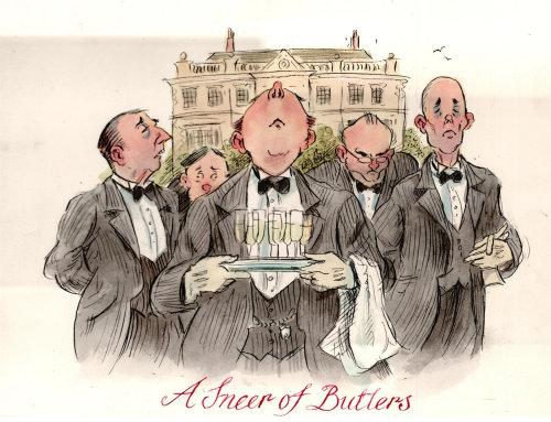 Arte de papel de A Sneer of Butlers