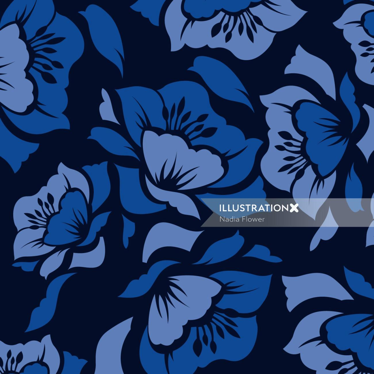 decorative flower pattern illustration