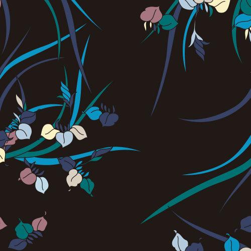 gráfico folhas coloridas em fundo preto