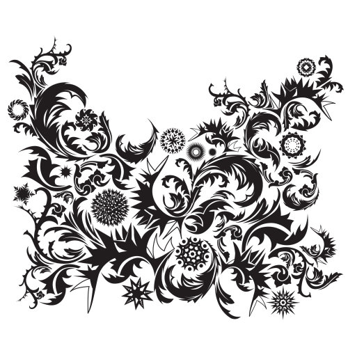 Black & White Decorative illustration