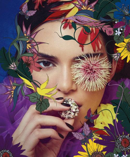 Moda beleza com flores