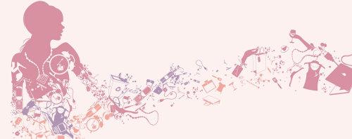 Padrão gráfico na cor rosa