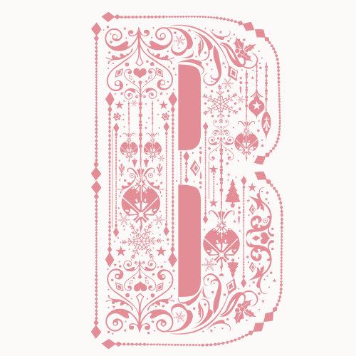 Arte gráfica da letra B
