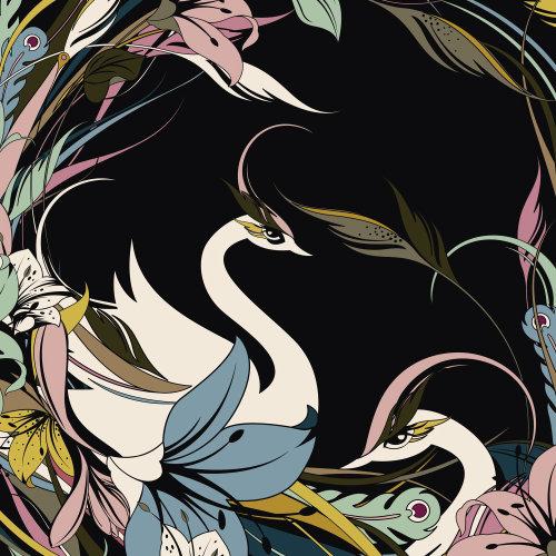 Arte gráfica de cisne