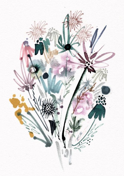 Desenho gráfico de flores