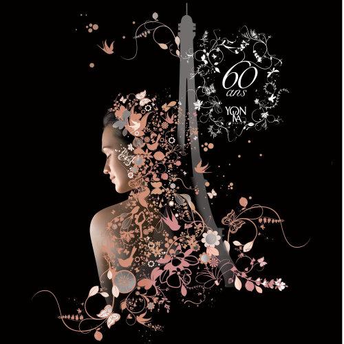 Modelo com desenhos de flores