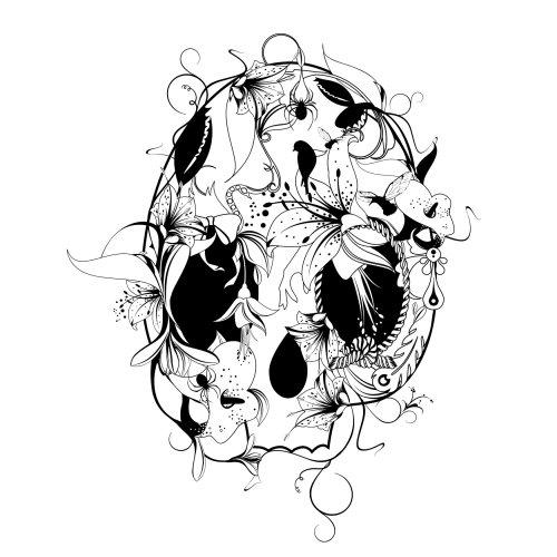 Crânio de padrão gráfico