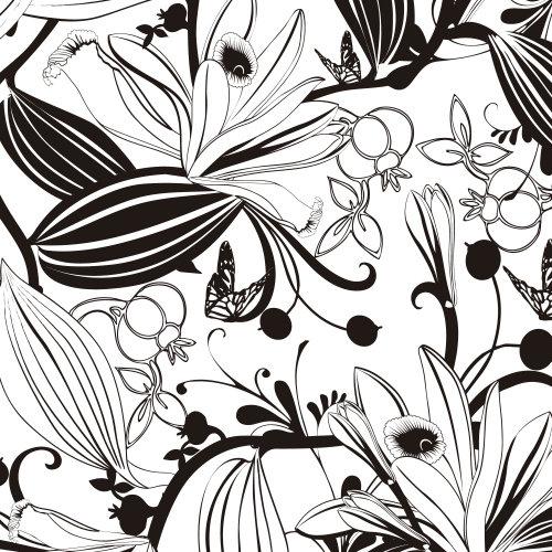 Arte da natureza em preto e branco