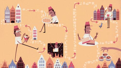 Ilustração digital de estilo de vida de pessoas