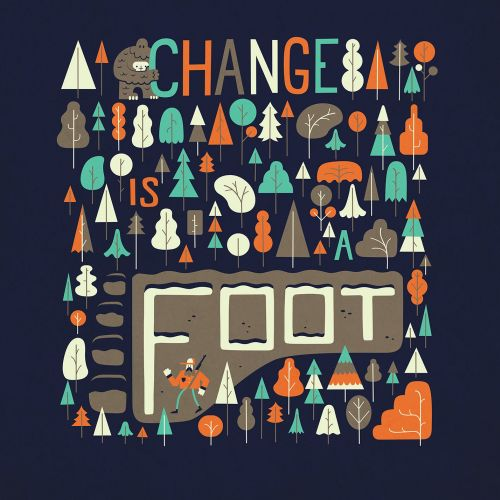 Change is foot nature illustration