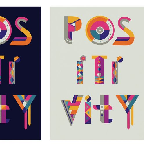 Lettering illustration positivity