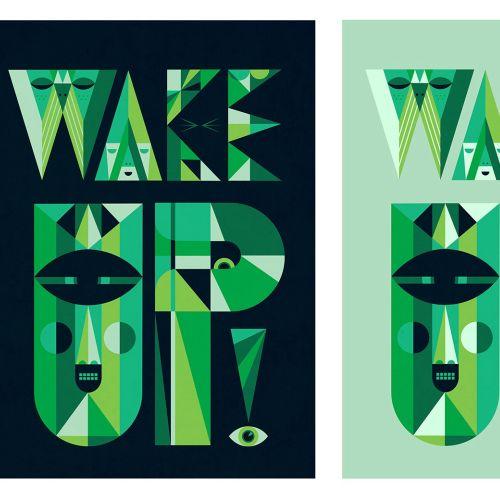 Lettering illustration wakeup