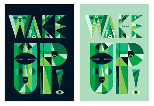 Lettering illustration wakeup
