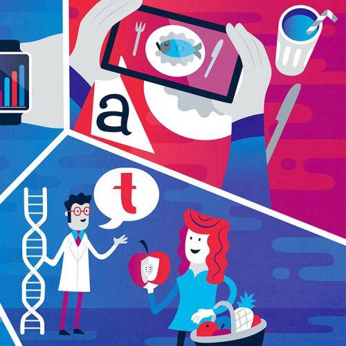 Collage illustration of pharmacy