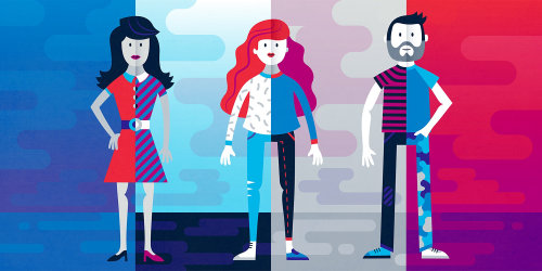 People coloful illustration