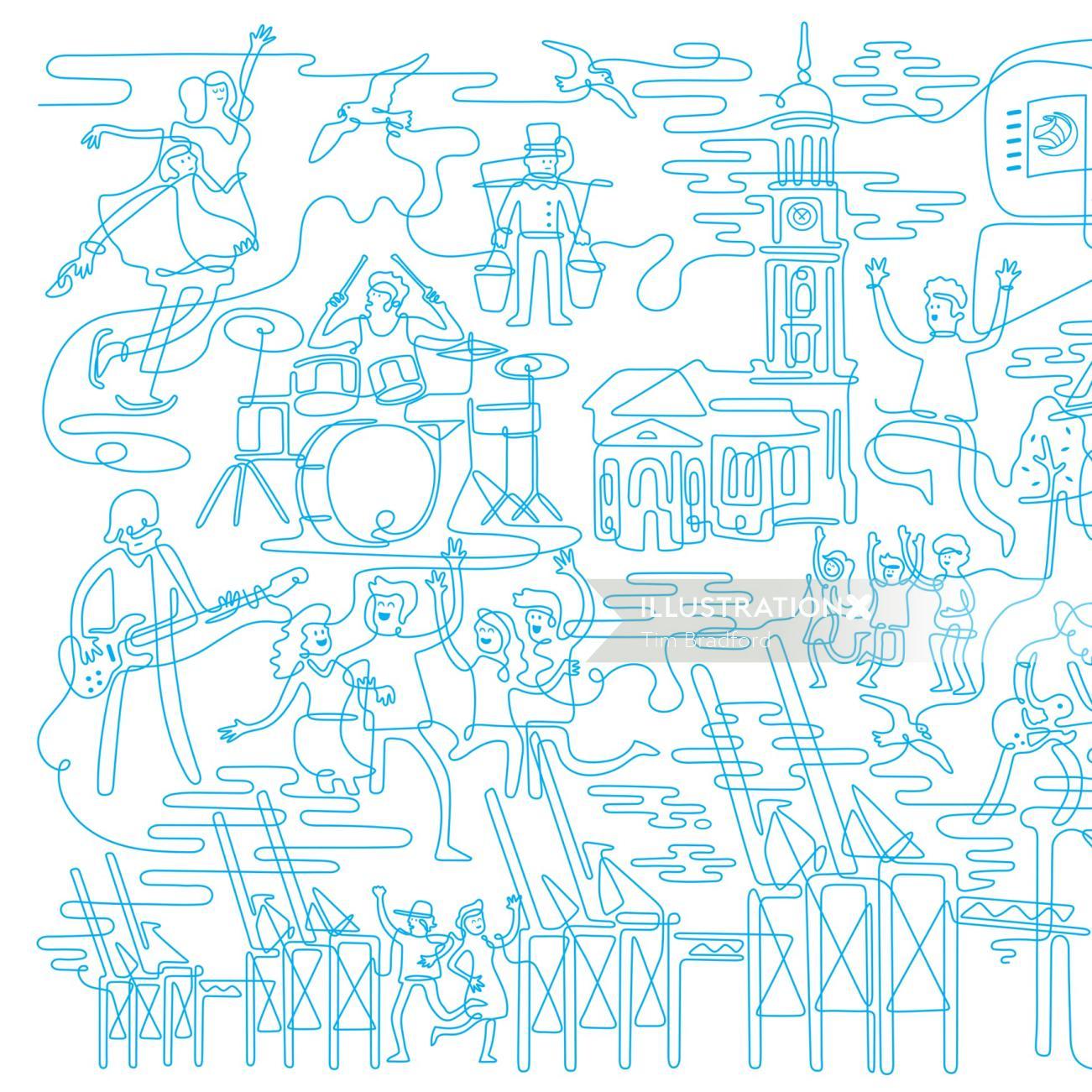 View Tim Bradford's illustration portfolio