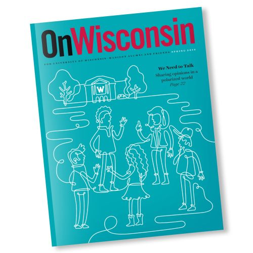 Editorial line illustration of on wisonsin