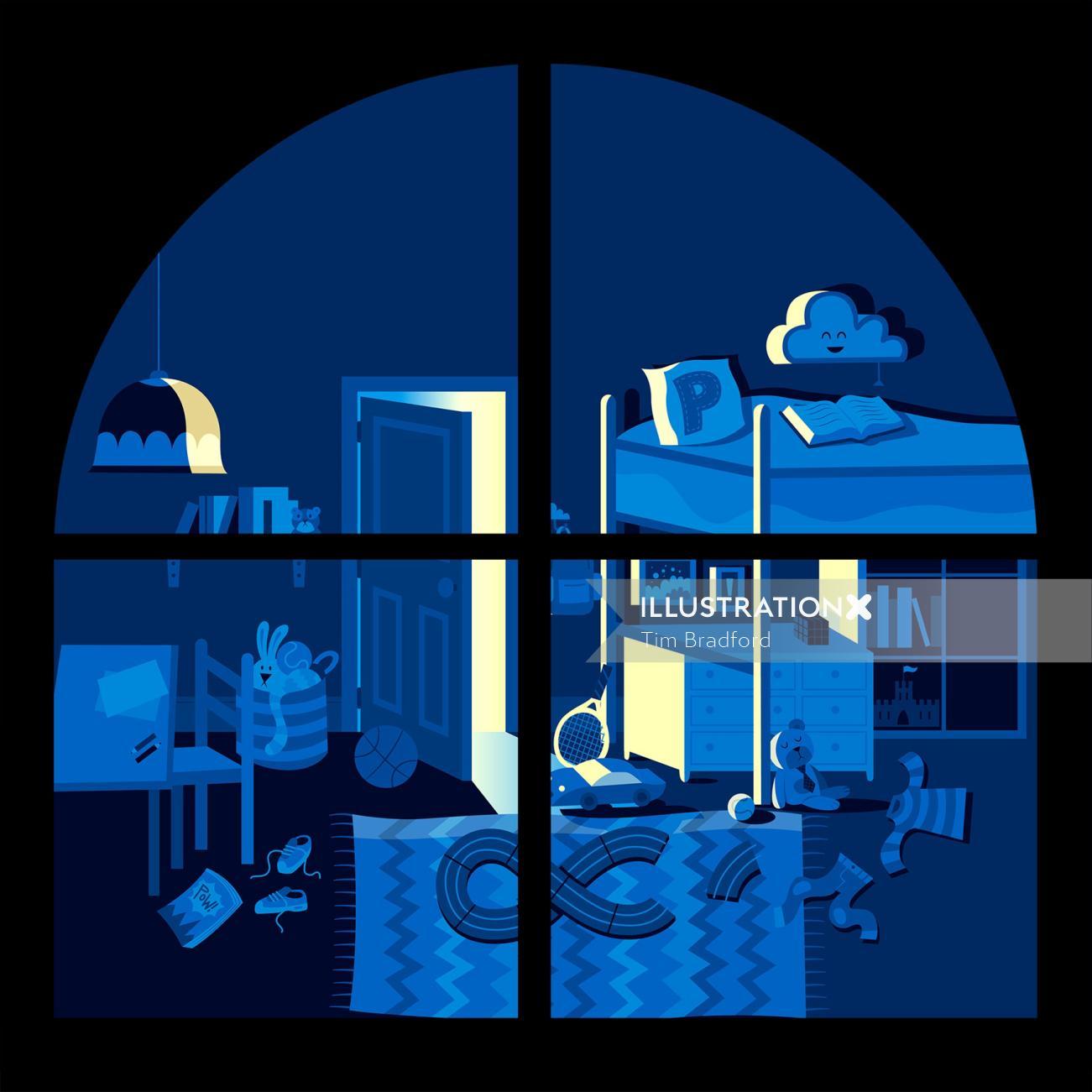 children room illustration