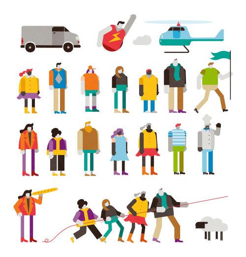 Ícones de pessoas de desenhos animados e humor