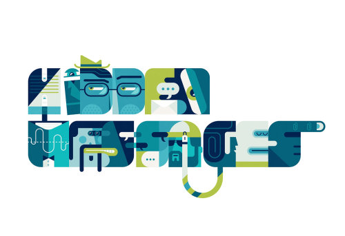 Lettering illustration by Tim Bradford
