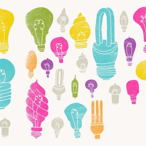 light bulbs graphic illustration