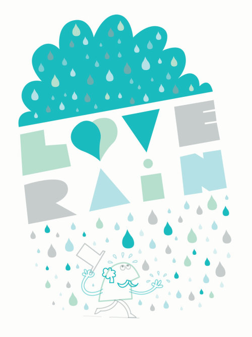 Illustration of love rain