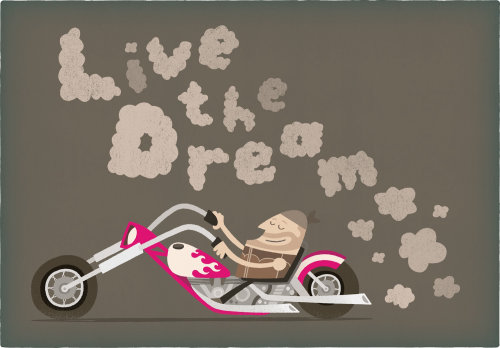 Cartoon & Humor Live the dream