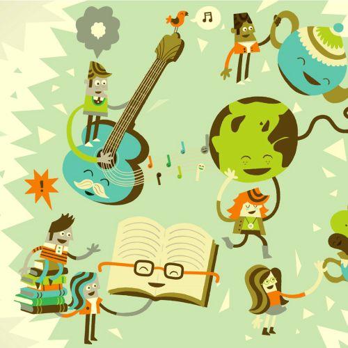 Cartoon character, communication illustration by Tim Bradford