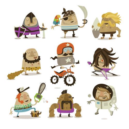 Ícones de personagens de pessoas