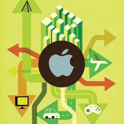 Business Apple graphic