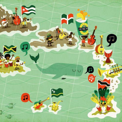 Map illustration of island