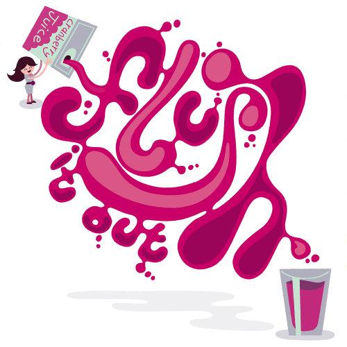Ilustração de letras de enxágue