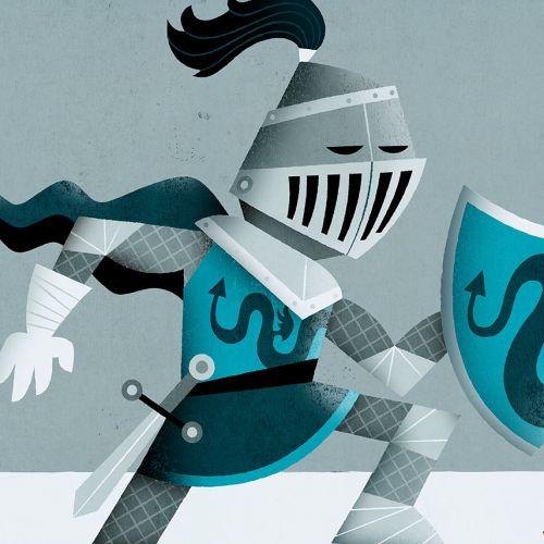 Cartoon & Humor knight and kids