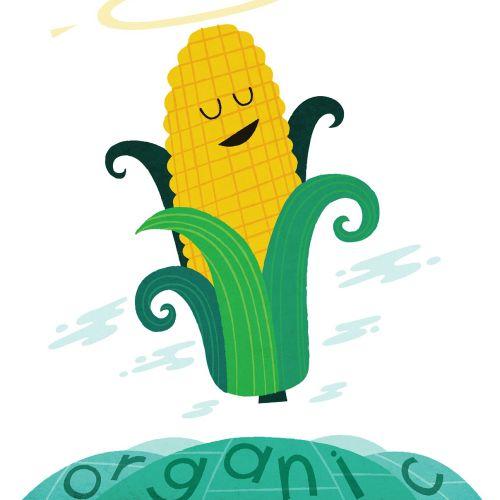 Cartoon & Humor Organic corn