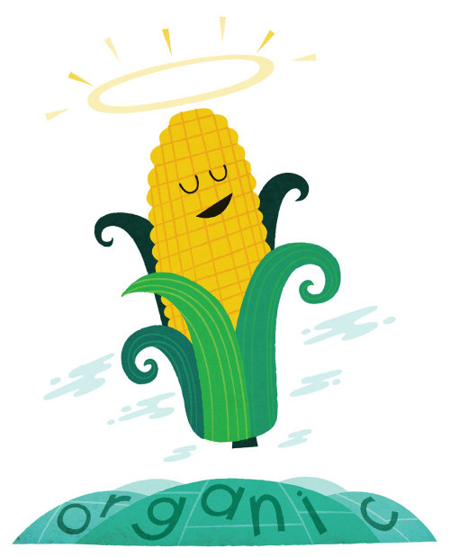 Cartoon & Humor Organic corn