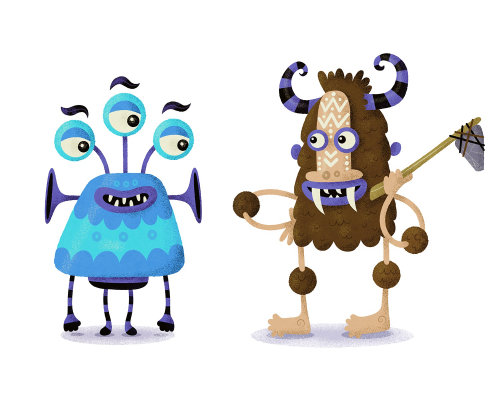 children monster characters