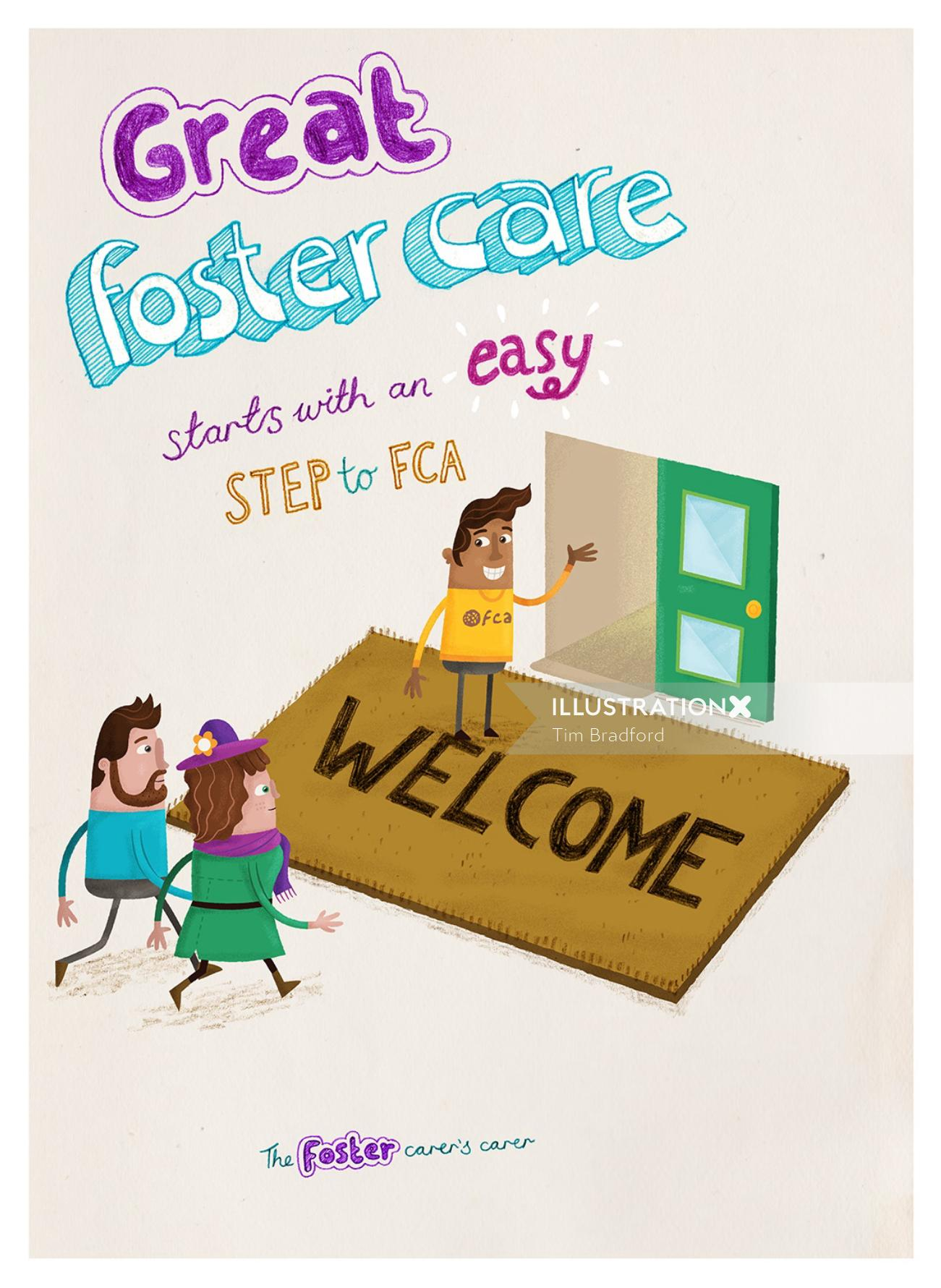 Lettering illustration Great foster care