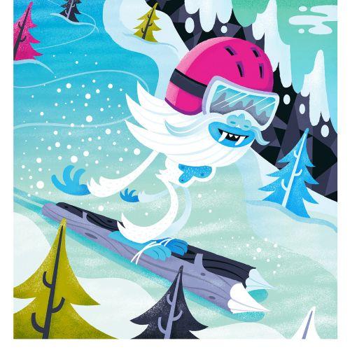 children monster ice skiing