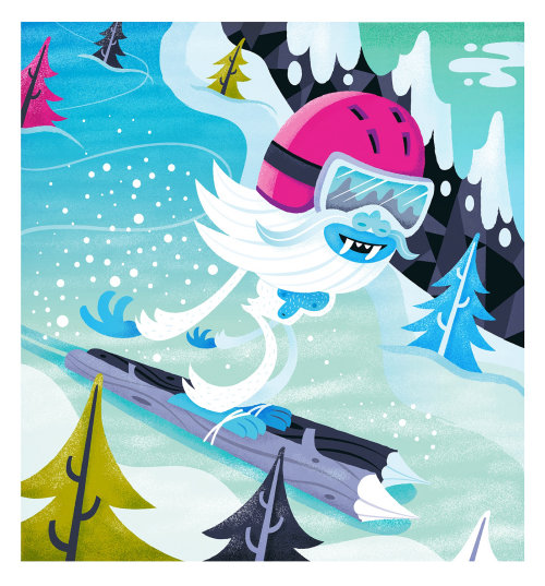 children monster ice skiing