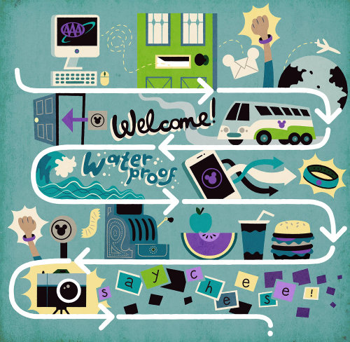 Infographic welcome illustration