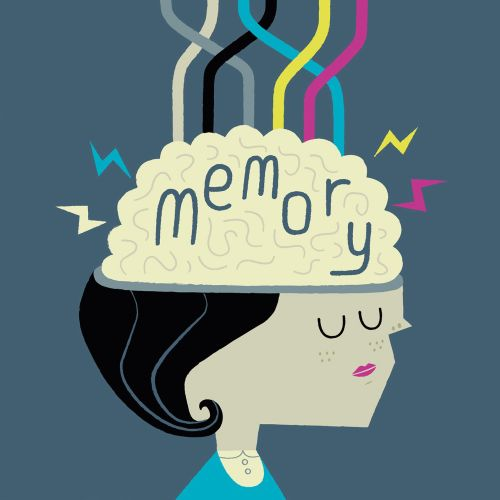 editorial infographic of woman memory