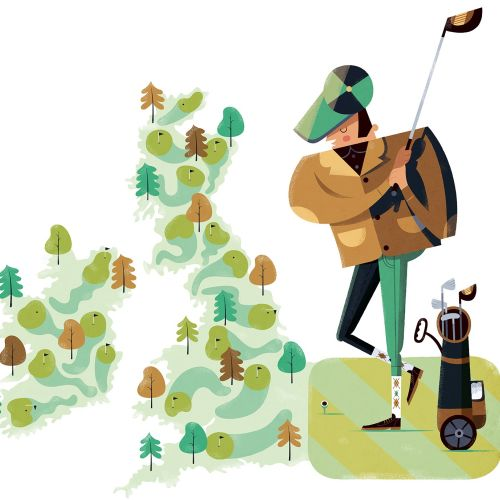 Golf club map illustration