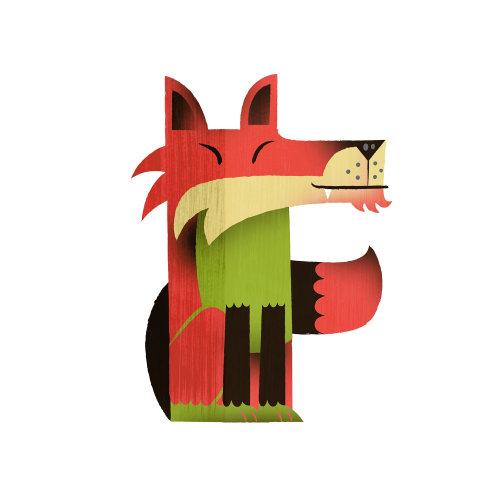 Raposa vermelha de ilustração animal